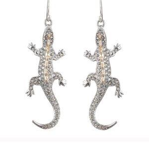 🆕Alexis Bittar Crystal encrusted Lizard earrings